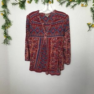 Lucky Brand Boho Style Top Size M